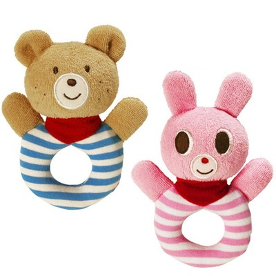 Soft Plush Animal Baby Hand Bell Infant Comforter Toys
