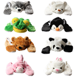 Children Winter Warm Plush Gifts Animal Plush Hat with Hood Scarf