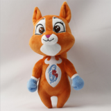 Cute Cartoon Soft Stuffed Plush Squirrel Mascot Toy