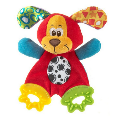 Soft Plush Animal Baby Toy With Teether