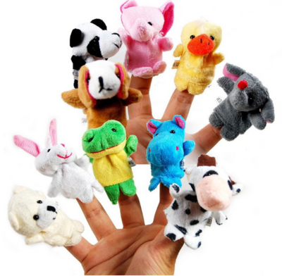 Custom Plush Animal Baby Educational Toy Lovely Finger Puppet